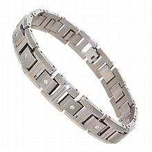 *Titanium, 8.5'' Length Bracelet With Stones (SI VI0132)