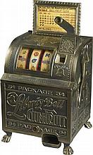 5 ¢ Reproduction Mills Liberty Bell Slot Machine Reissue Case Size 13'''' x 12'''' x 24''''-PNR-Due to laws regulating the sale of Antique Slot Machines, I, as the seller, will not sell to members in the states of AL, CT,HI, NE,SC, and TN. Bids from