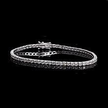 APP: 11.6k * 18 kt. White Gold, 5.03CT Round Brilliant Cut Diamond Tennis Bracelet (VGN A-35)
