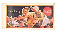 Rare Vintage Coca Cola Advertising Poster (19'' x 10'')