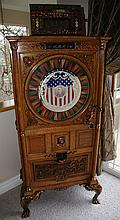 Antique Dewey Upright Slot Machine - PICK UP ONLY -P-Due to laws regulating the sale of Antique Slot Machines, I, as the seller, will not sell to members in the states of AL, CT,HI, NE,SC, and TN. Bids from members residing in any of these states