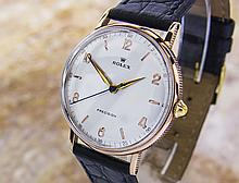 *Rare Original 1950S Rolex Ref 4132 Manual Wind Solid 18K Rose Gold With Stainless Steel Back (SI MJD14) (CASHIERS CHECK OR WIRE ONLY NON-REFUNDABLE)