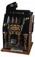Rare Antique 50¢ Mills Golden Nugget Golden Doll Slot Machine -PNR-