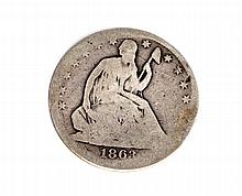 1863-S Liberty Seated Half Dollar Coin
