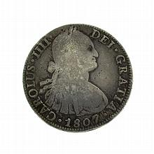 1807 Eight Reales American First Silver Dollar Coin