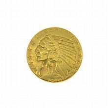 1910-D $5 U.S. Indian Head Gold Coin