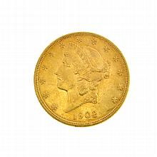 *1902-S $20 U.S. Liberty Head Gold Coin (DF)