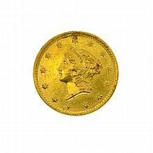 1849 $1 US Liberty Head Type Gold Coin