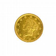 1851 $1 U.S. Liberty Head Gold Coin