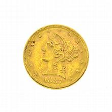 1887-S $5 U.S. Liberty Head Gold Coin