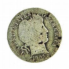 1905 Barber Head One Dime Coin