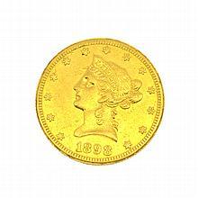 *1898-S $10 U.S. Liberty Head Gold Coin (DF)