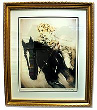 Icart (After) - The Horse Woman - Museum Framed Print 25x29