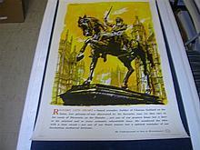 Richard The Lionheart by John Finnie on Linen