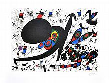 JOAN MIRO (After) Homage To Joan Pratt Print, 222 of 500