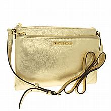 ^Brand New Michael Kors Bedford Pale Gold XL Crossbody Leather Bag