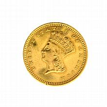1873 $1 U.S. Indian Head Gold Coin