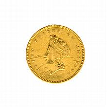 1854 $1 U.S. Indian Head Gold Coin