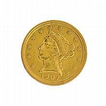 1907 $2.5 U.S. Liberty Head Gold Coin