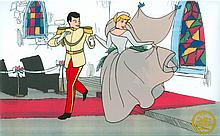 Walt Disney (After) Serigraph, Cell, Cinderella at Chappel and Prince Charming W/ certificate
