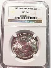 *1952-S Washington Carver Commemorative Half NGC MS66 Coin