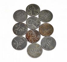(10) Lincoln One Cent Coins