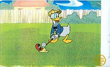 Walt Disney (After) Serigraph, Cell, Donald's Golf Game W/ Certificate Of Authenticity
