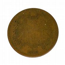 1866 Two Cents Coin