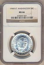 *1948 B.T. Washington Half NGC MS66 Coin