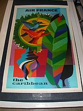 Air France Caribbean by Nathan on Linen