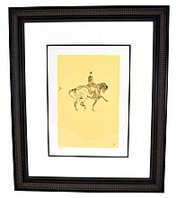 Toulouse-Lautrec (After) ''Ecuyere De Haute Ecole Et Passage'' Rare Museum Framed 18x21 Ltd. Edition 332/350