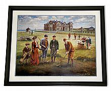Lee Dubin- Framed-Signature ''St. Andrews Golf Course''