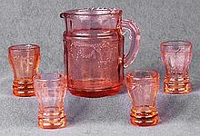 Pink Miniature Water Set of 5