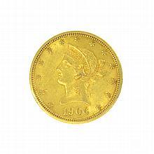 *1906-D $10 U.S. Liberty Head Gold Coin