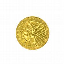 *1928 $2.5 U.S. Indian Head Gold Coin