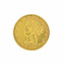 *1907-D $5 U.S. Liberty Head Gold Coin