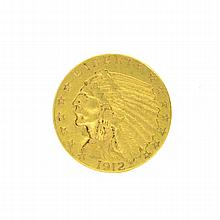 *1912 $2.5 U.S. Indian Head Gold Coin