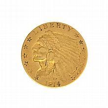1914-D $2.5 U.S. Indian Head Gold Coin