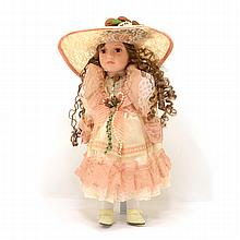 16 Inch Handpainted Porcelain Doll