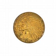 *1913 $5 U.S. Indian Head Gold Coin (DF)