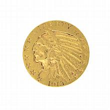 *1913-S $5 U.S. Indian Head Gold Coin