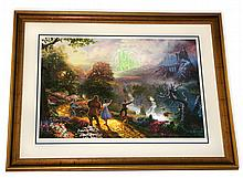 Rare Thomas Kinkade Original Limited Edition Numbered Lithograph Plate Signed Museum Framed ''Dorothy Discovers Emerald City''