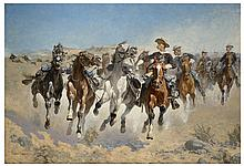 FREDERIC REMINGTON (After) Dismounted Print, 28'' x 22''