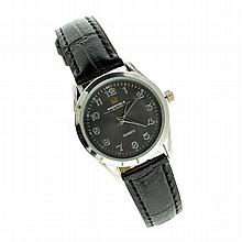 Sheffield Ladies Quartz Watch With Black Band
