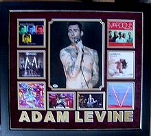Authentic Adam Levine Signature Photo Collage