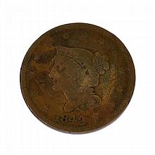 1842 Large Cent Coin