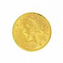 *1894 $10 U.S. Liberty Head Gold Coin
