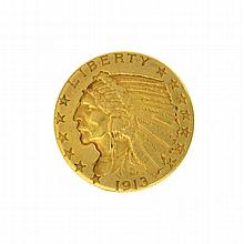 *1913 $5 U.S. Indian Head Gold Coin