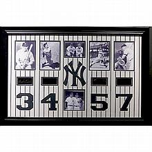 Yankee Legends 3,4,5,7 Engraved