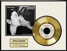 JOHN LENNON ''Just Like Starting Over'' Gold Record
